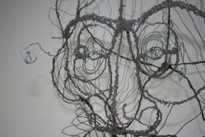 André de Rooy, title unknown, wire sculpture, detail, year unknown | PHOTO Marieke Visser, 2012