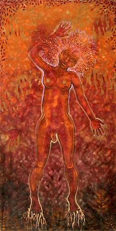 Felix de Rooy, 'Forest Spirit', mixed technique on linen, 220x130