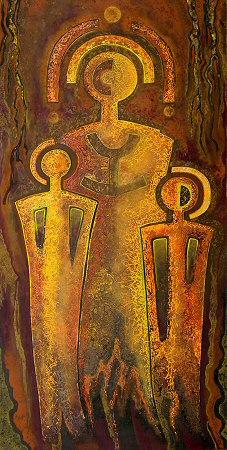 Felix de Rooy, 'Las Tres Potencias', mixed technique on linen, 220x130