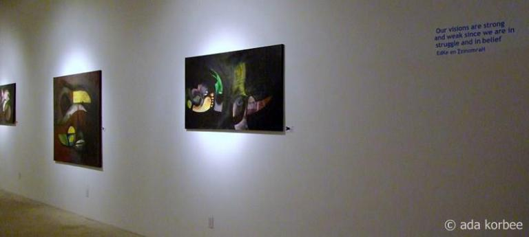 schilderijen en quote