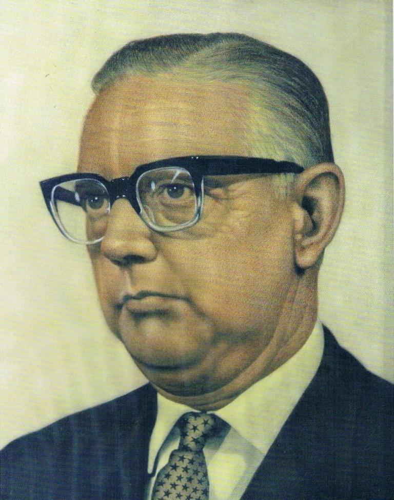 'Portrait Rudolf W. Groeneman, LL. M.' pastel on paper, 61x48cm, 1982, Centrale Bank van Suriname Collection | PHOTO Roy Tjin, 2007