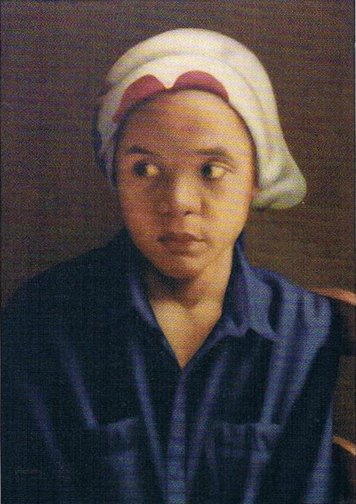 'Jong meisje' [Young girl], oil on panel, 64x44cm, 1992, Centrale Bank van Suriname Collection | PHOTO Roy Tjin, 2007