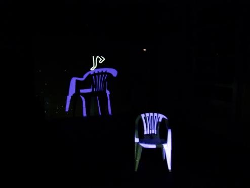 Razia Barsatie, Video Installation of chair (snapshot) 2013/ PHOTO Ada Korbee, 2013