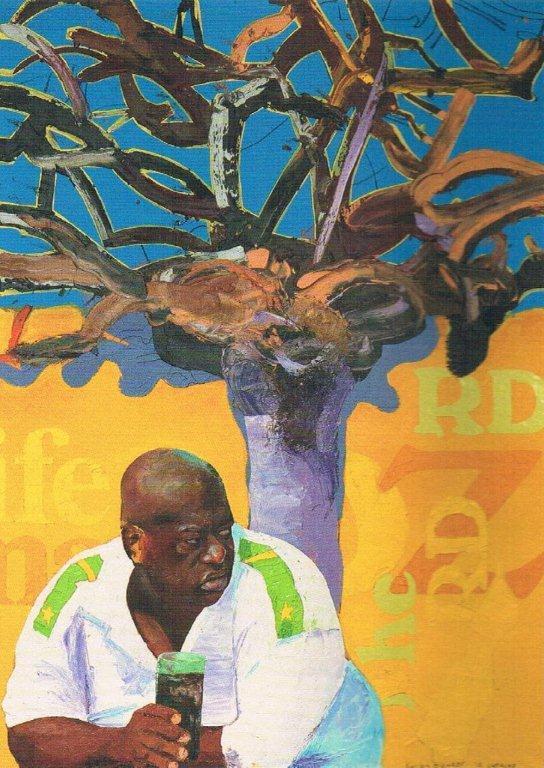 Carlos Blaaker (1961), 'El Presidente de la Republica Tulariana', oil on canvas, 2010 | PHOTO 'Curaçao Classics': René Emil Bergsma/Sinaya Wolfert