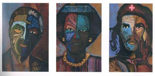 Vincent Jong Tjien Fa (1970), 'Las Tres Potencias', acrylic on canvas, 2010 | PHOTO 'Curaçao Classics': René Emil Bergsma/Sinaya Wolfert