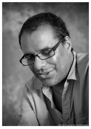 Portrait of Christopher Cozier, during 'Kibii Wi Koni Marcel Pinas The Event', 2011 | PHOTO Sirano Zalman, 2011