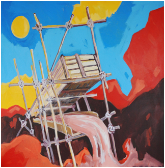 Rinaldo Klas, 'Goudkoorts III' [Gold fever III], acrylics on canvas, 187 cm wide x 144 cm high, 2012 | PHOTO Readytex Art Gallery/William Tsang, 2012