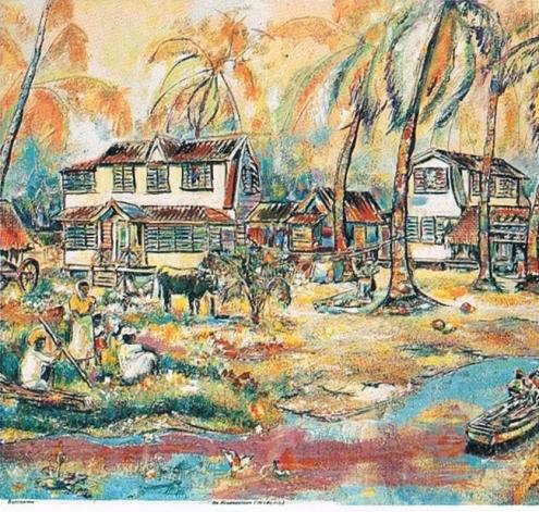 Egbert Lieveld, De Hindostaan [The Hindustani], oil on canvas, 1980 (EBS Collection) / FOTO  Cliff San A Jong/Roy Tjin/Lucien Chin A Foeng, 2000