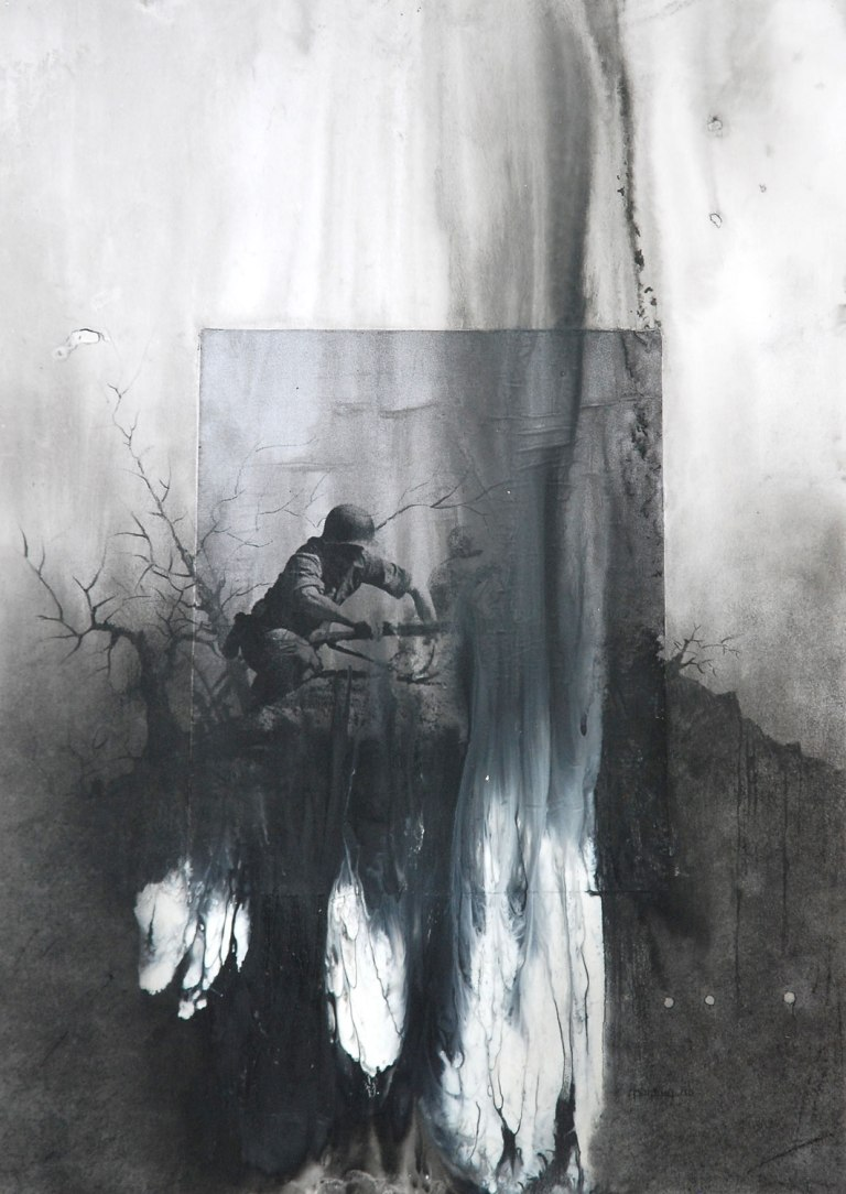 Also in stock: Sunil Puljhun, 'Slavery', mixed media on paper, 74x102cm, 2011 / PHOTO Readytex Art Gallery/William Tsang