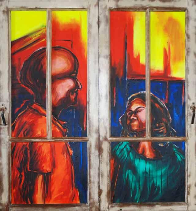 Dhiradj Ramsamoedj, 'A story of my own VI', acryl on canvas, 119x129cm, 2010 - USD 800 / PHOTO Readytex Art Gallery/William Tsang
