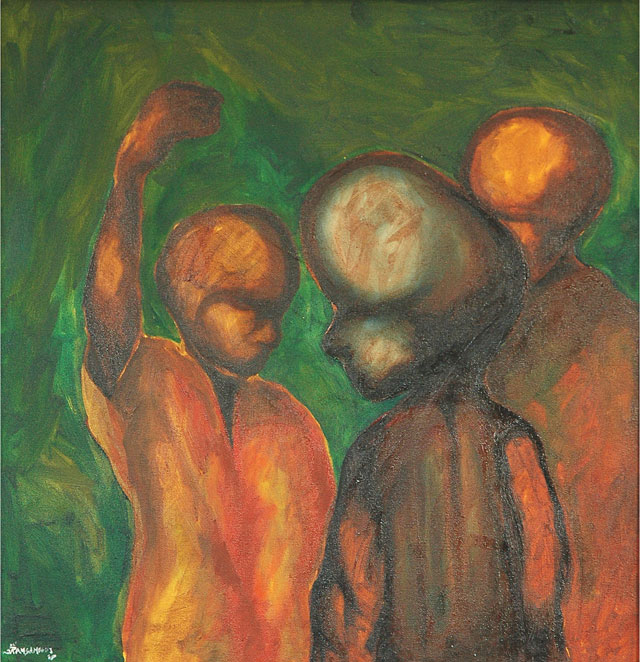 Dhiradj Ramsamoedj, untitled, oil on canvas, 58x65cm, 2008 - USD 225 / PHOTO Readytex Art Gallery/William Tsang
