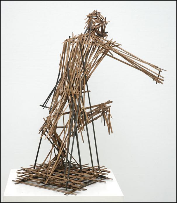 Dhiradj Ramsamoedj, untitled, hardwood, 50wx70hx40d cm, 2013 / PHOTO Readytex Art Gallery/William Tsang