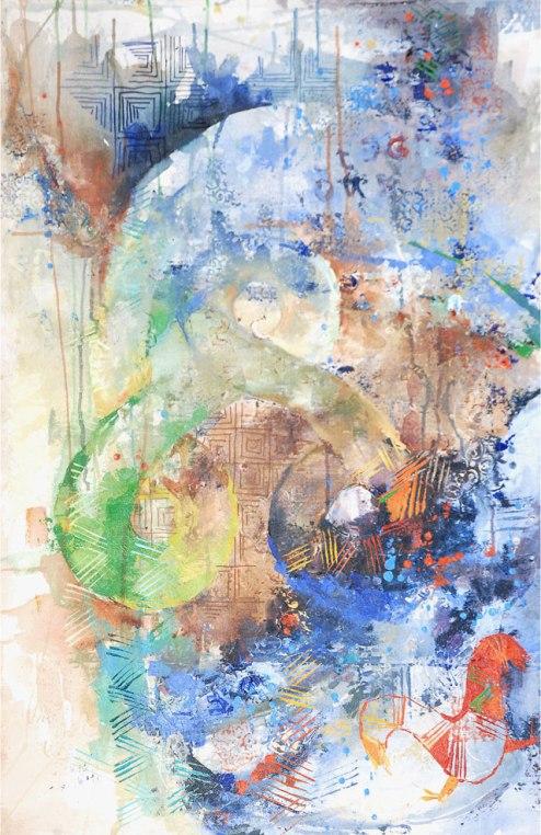 Sri Irodikromo, 'Denki', mixed media on canvas, 65x100cm, 2010 - USD 850 / PHOTO Readytex Art Gallery/William Tsang