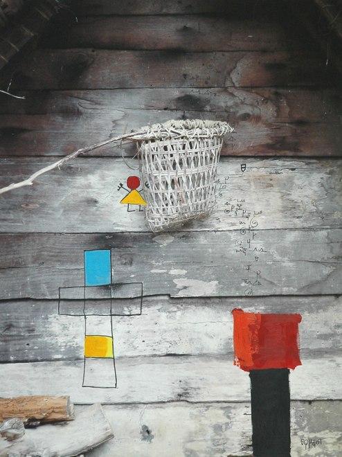 Marcel Pinas, 'Bakisi Kisi 8338', print and mixed media on canvas, 70x93cm, 2009 - USD 1500 / PHOTO Readytex Art Gallery/William Tsang
