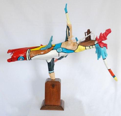 Roddney Tjon Poen Gie, 'Submerged', acrylic on wood, 80wx85hx55d, 2014 - USD 350 / PHOTO Readytex Art Gallery/William Tsang