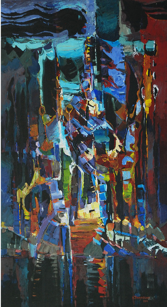 Humprey Tawjoeram, 'Chaos', acrylic on canvas, 65x120cm, 2011 - USD 650 / PHOTO Readytex Art Gallery/William Tsang