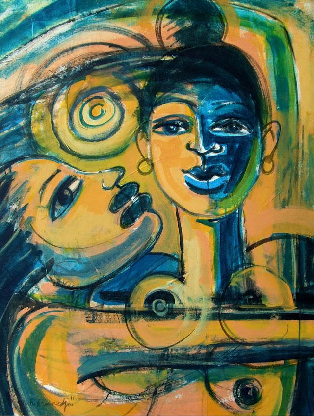 Reinier Asmoredjo, 'Touch of the Sun', acrylic on canvas, 70x94 cm, 2011 - USD 700 / PHOTO Readytex Art Gallery/William Tsang
