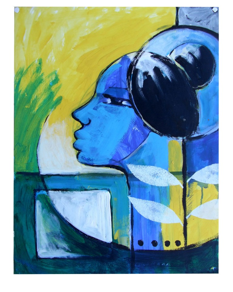 Reinier Asmoredjo, 'Flower', acrylic on paper, 46x60 cm, 2011 / PHOTO Readytex Art Gallery/William Tsang