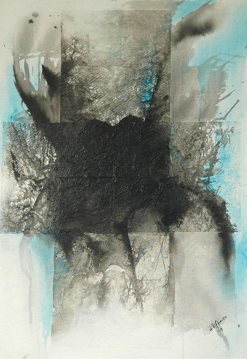 Wilgo Vijfhoven, 'Sfeer III', mixed media on canvas, 71 cm wide x 101 cm high, 2009 - USD 650 / PHOTO Readytex Art Gallery/William Tsang
