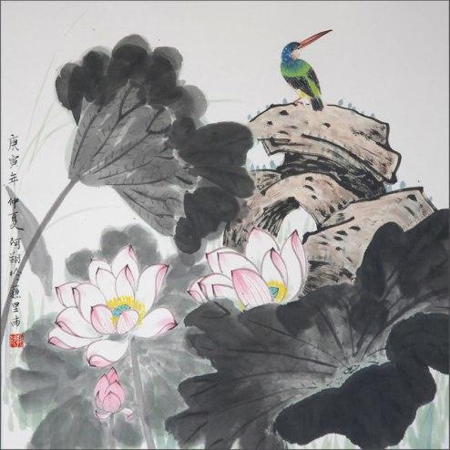 Ay Xiang, 'Surinaamse vogel III', watercolor on paper, 100x70, 2010 - USD 400 / PHOTO Readytex Art Gallery/William Tsang
