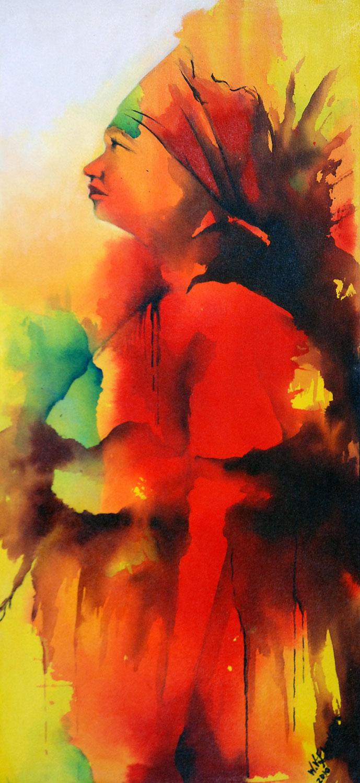 Wilgo Vijfhoven, 'Kotomisi', acrylic on canvas, 60 cm wide x 130 cm high, 2010 - USD 675 / PHOTO Readytex Art Gallery/William Tsang