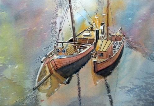 A. Murugesan, 'Boats of Luneberg' / PHOTO Courtesy A. Murugesan
