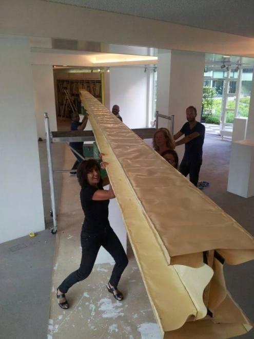 Installing ... / PHOTO Courtesy Sasha Dees