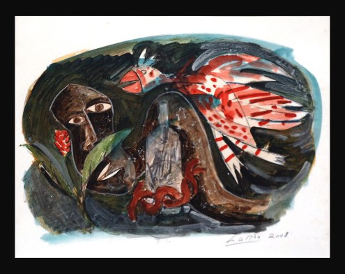 John Lie A Fo, 'Rite', mixed media on paper, 88x68cm, 2008 - USD 1750 / PHOTO Readytex Art Gallery/William Tsang