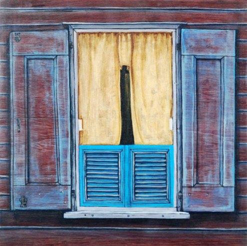 Kit-Ling Tjon Pian Gi, 'Window 32', acrylics on wood, 30x30cm, 2013 - USD 275 / PHOTO Readytex Art Gallery/William Tsang