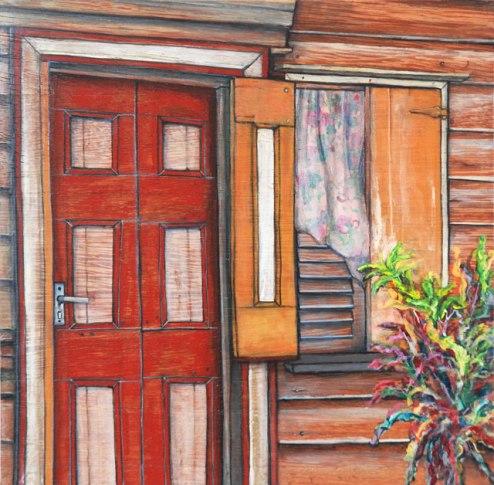 Kit-Ling Tjon Pian Gi, 'Window 33', acrylics on wood, 30x30cm, 2013 - USD 275 / PHOTO Readytex Art Gallery/William Tsang