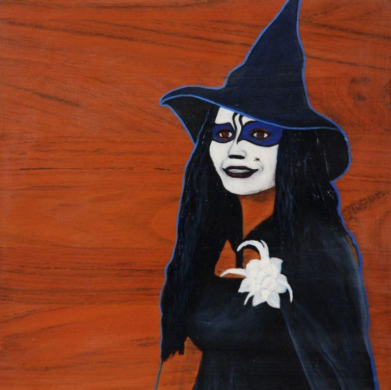 Kit-Ling Tjon Pian Gi, 'Mercredi des Cendres 9 Witch 2', acrylics on wood, 30x30cm, 2012 - USD 275 / PHOTO Readytex Art Gallery/William Tsang