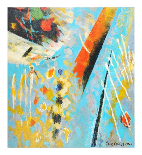 Paul Chang, 'Blue Serenade', acrylic on canvas, 90x100cm, 2012 - USD 1400 / PHOTO Readytex Art Gallery/William Tsang