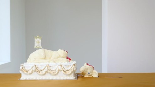 Sarah Carlier, The Lamb (video still), 2013 / PHOTO Courtesy Sarah Carlier en LhGWR gallery