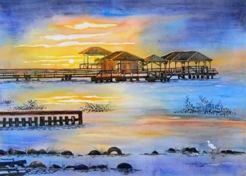 A. Murugesan, 'Sunrise over Suriname River' / PHOTO Courtesy A. Murugesan