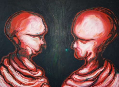 Dhiradj Ramsamoedj, 'You and me', oil on canvas, 150x110cm, 2010 - USD 800 / PHOTO Readytex Art Gallery/William Tsang