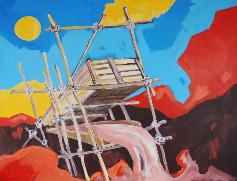 Rinaldo Klas, 'Goudkoorts III' [Gold rush III], acrylics on canvas, 187 cm wide x 144 cm high, 2012 - USD 2250 / PHOTO Readytex Art Gallery/William Tsang