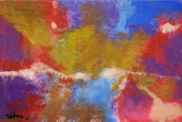 Rinaldo Klas, 'Goudputten 3' [Gold pits 3], acrylics on canvas, 30 cm wide x 20 cm high, 2012 - USD 200 / PHOTO Readytex Art Gallery/William Tsang