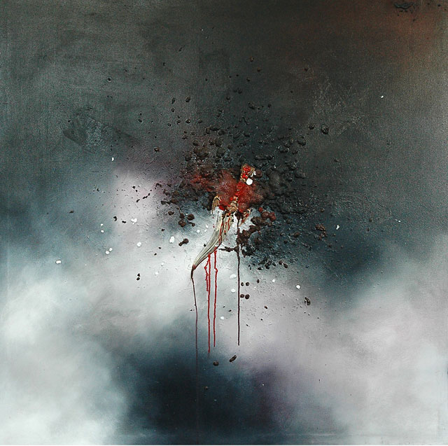 Sunil Puljhun, 'Dare Devil', mixed media on canvas, 140x140cm, 2008 - From: 'The Weight of Darkness'  - USD 600 / PHOTO Readytex Art Gallery/William Tsang