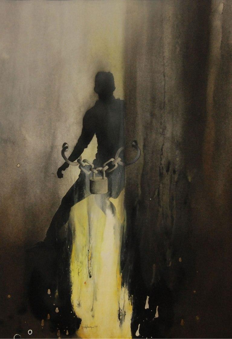 Sunil Puljhun, 'Freedom Fighter I', mixed media on paper, 75x55cm, 2010  - USD 400 / PHOTO Readytex Art Gallery/William Tsang