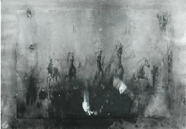 Sunil Puljhun, 'Samen zijn we sterk' [Together we are strong], mixed media on paper, 35x50cm, 2009  - USD 300 / PHOTO Readytex Art Gallery/William Tsang