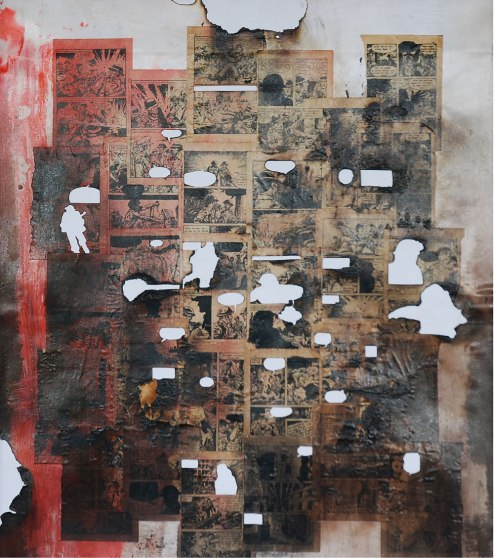 Sunil Puljhun, 'Untitled 2', mixed media on paper, 47x63cm, 2011  - From: 'The Weight of Darkness'  - USD 550 / PHOTO Readytex Art Gallery/William Tsang