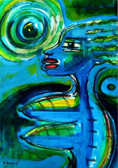 Reinier Asmoredjo, 'Inspiration', acrylic on canvas, 70 cm wide x 103 cm high, 2011 - USD 700 / PHOTO Readytex Art Gallery/William Tsang
