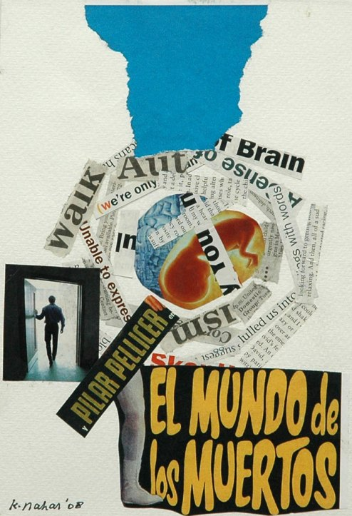 Kurt Nahar, 'El mundo de los muertos', mixed media collage on paper, 19x28cm, 2009  - USD 150 / PHOTO Readytex Art Gallery/William Tsang