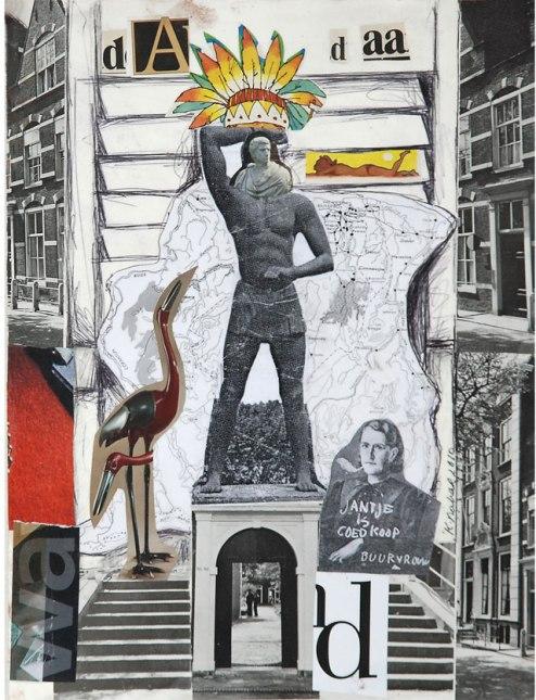 Kurt Nahar, 'Kwakoe dada', mixed media on paper, 28x37.5cm, 2010  - USD 130 / PHOTO Readytex Art Gallery/William Tsang