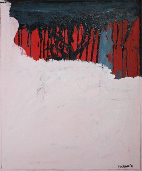 Kurt Nahar, 'On the wall', mixed media collage on canvas, 67x81cm, 2011  - USD 575 / PHOTO Readytex Art Gallery/William Tsang
