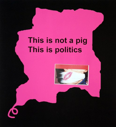 Kurt Nahar, 'This is not a pig', mixed media on paper, 47x49cm, 2012  - USD 500 / PHOTO Readytex Art Gallery/William Tsang