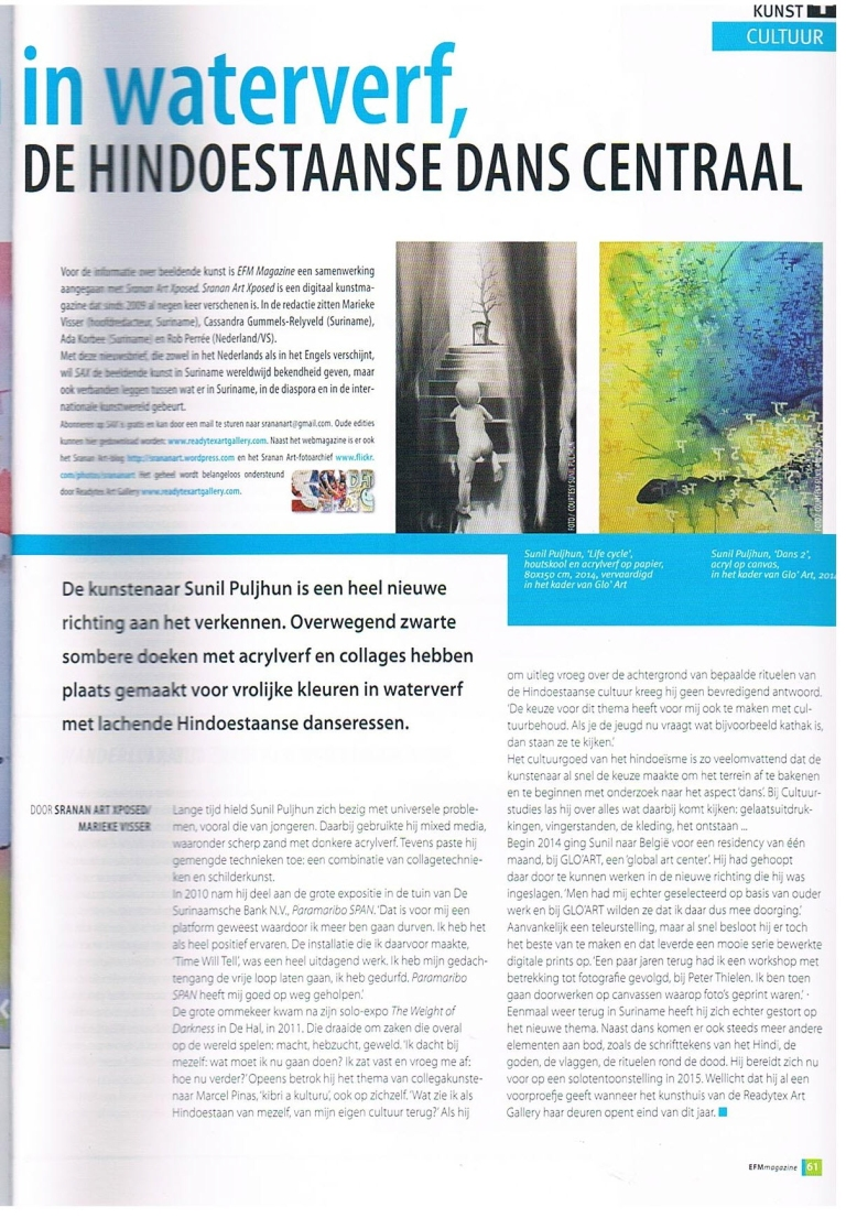 EFM Magazine vol. 3, no. 10, November 2014, Uitgesproken [Outspoken]