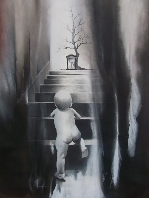Sunil Puljhun, 'Life cycle', charcoal and acrylic paint on paper, 80x150 cm, 2014, created in the context of Glo' Art / Photo Courtesy Sunil Puljhun