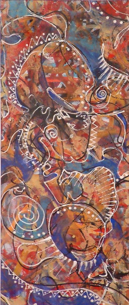 Roddney Tjon Poen Gie, 'Indigenous Conception I', mixed media on paper, 23x54cm, 2005 - USD 150 / PHOTO Readytex Art Gallery/William Tsang