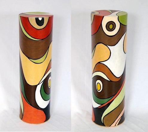Roddney Tjon Poen Gie, 'Pedestal 5', acryl on cardboard tube, 18x61x18cm, 2011 - USD 2011 / PHOTO Readytex Art Gallery/William Tsang